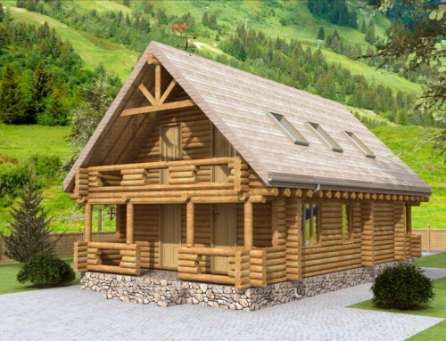 Проект дома из бревна 024