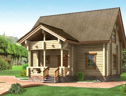 Проект дома из бревна 019