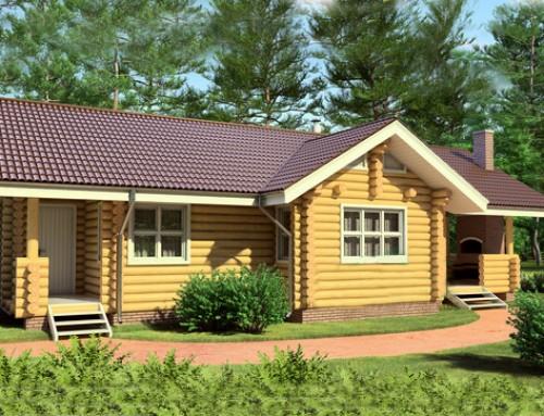 Проект дома из бревна 021
