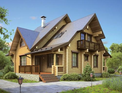Проект дома из бревна 022